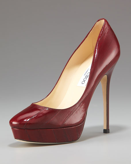 Jimmy ChooEelskin Platform Pump