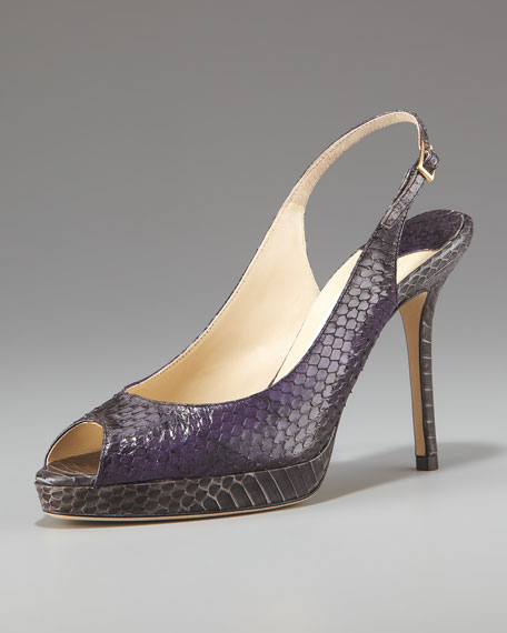 Shaded Snakeskin Pump
