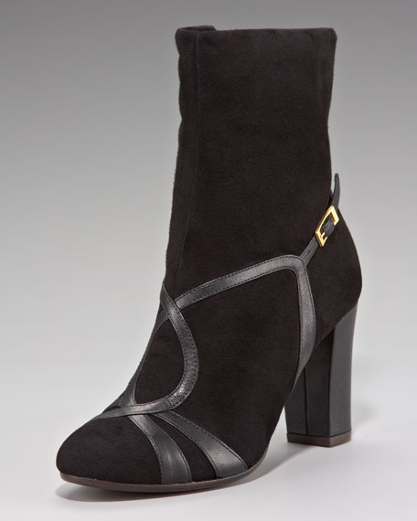 Sandal-Illusion Ankle Boot