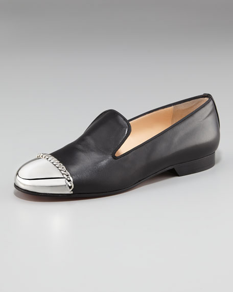 Rollergirl Metal-Capped Flat Loafer