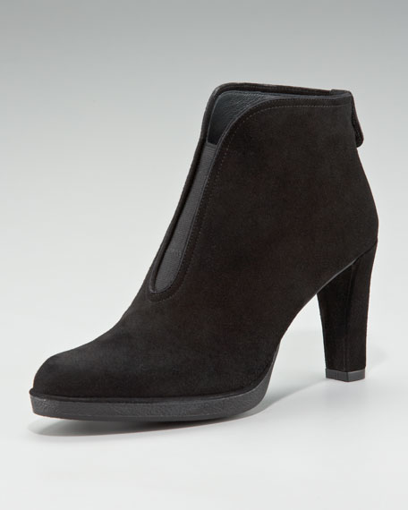 Centrum Suede Gored Ankle Boot, Black