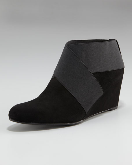 Elastic Wedge Ankle Boot