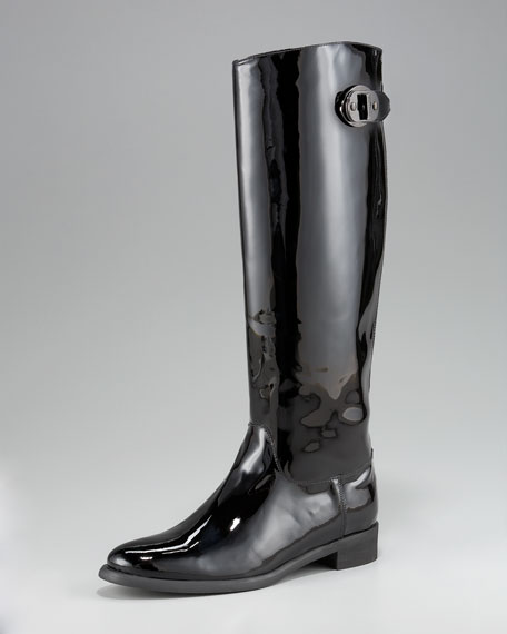 Patent Leather Rain Boot