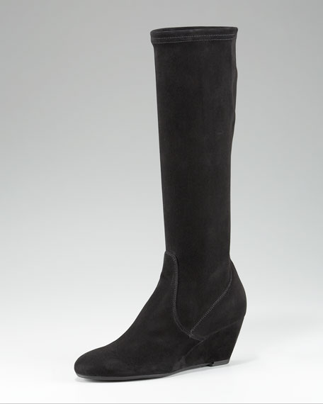 Weatherproof Suede Wedge Boot