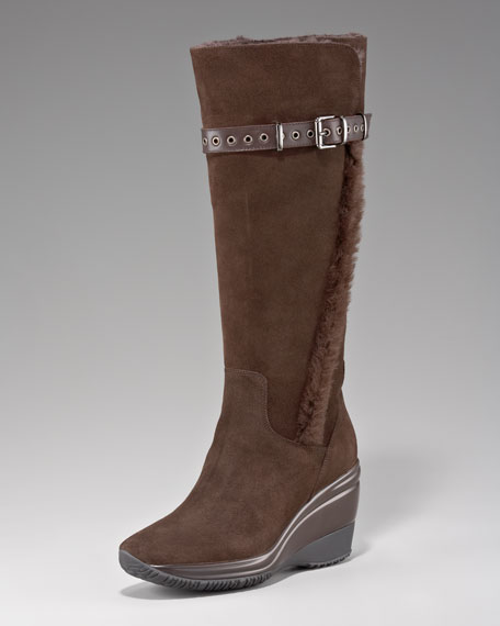 Shearling-Lined Weatherproof Boot