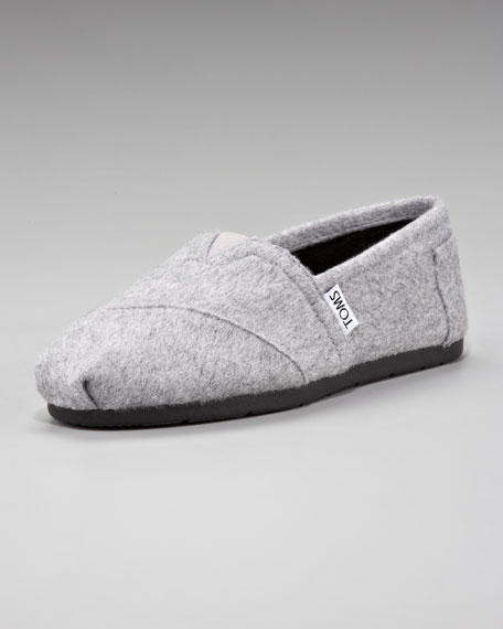 The Row Flannel Slip-On, Gray