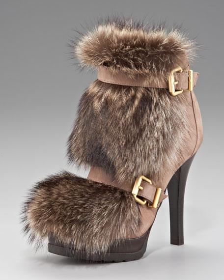 Fur-Front Bootie