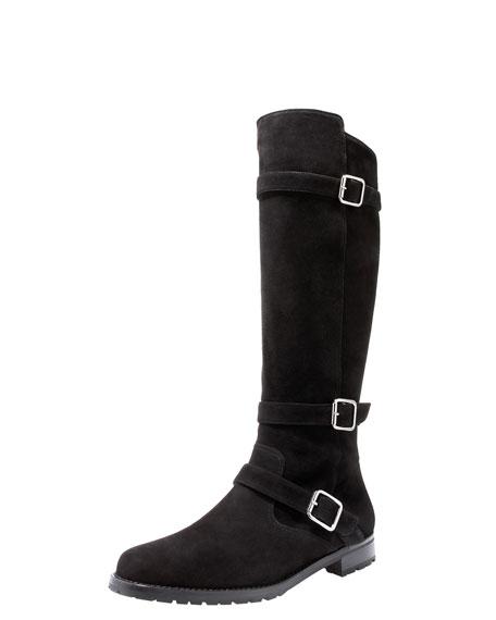 Flat Motorcycle Boot, Black