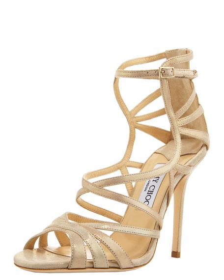Strappy Back-Zip Sandal