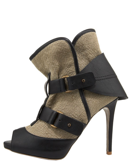 Canvas Ankle Bootie