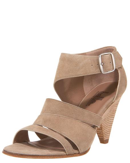Suede Cutout Sandal