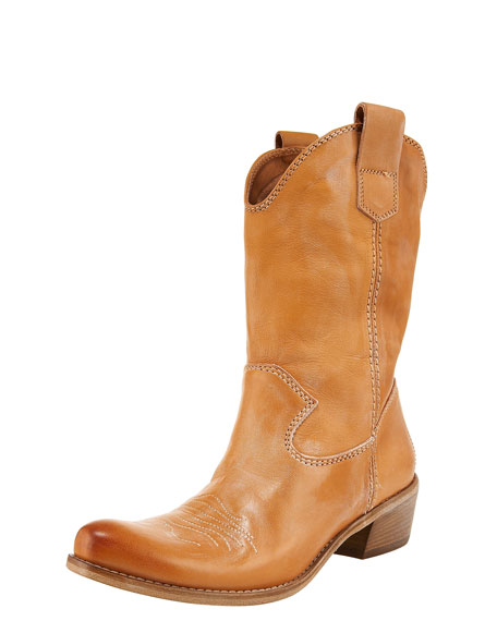 Mid-Calf Western Boot