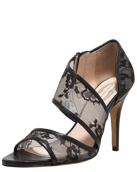 Farah Asymmetric Lace Sandal