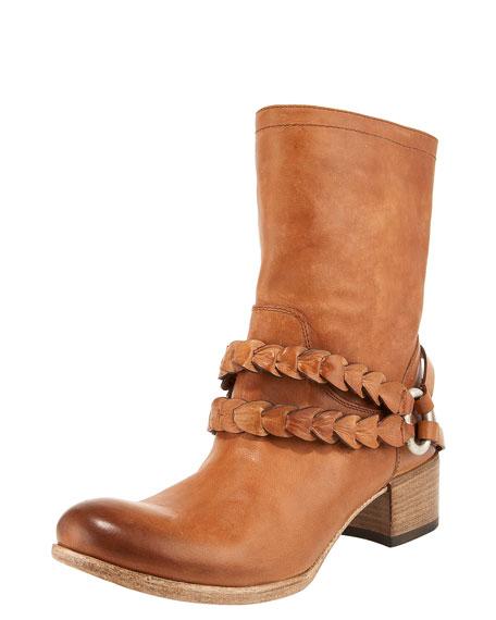 Braided Mid-Calf Boot
