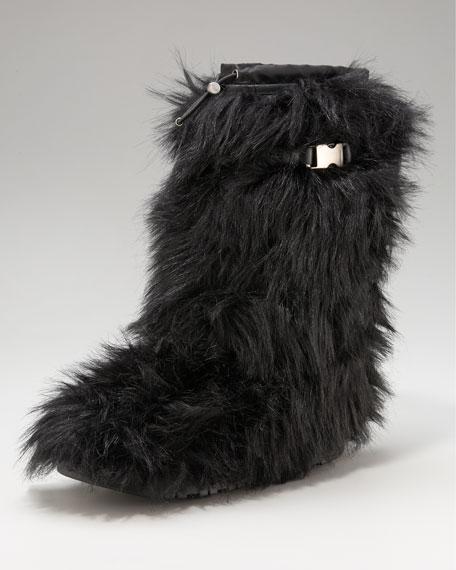 Tall Fur Buckle Boot