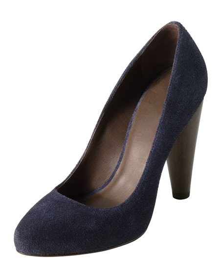 Josephine Suede Pump, India Ink