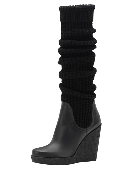 Lola High-Heel Wedge Boot