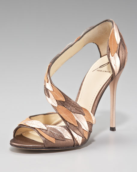 Leaf-Covered Asymmetric Sandal