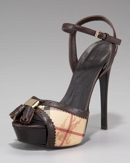 Brogue Platform Sandal
