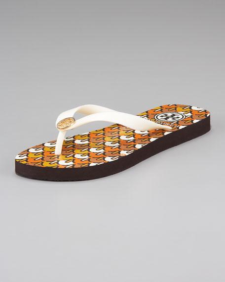 Enamel-Printed Flip Flops