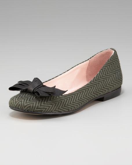 Bow-Toe Ballerina Flat