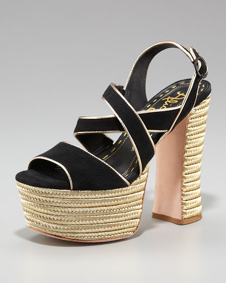 Terry Suede Platform Sandal