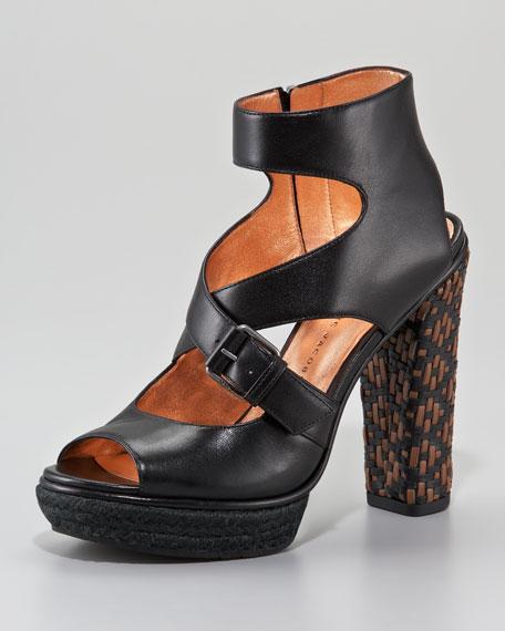 Woven-Heel Sandal
