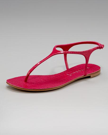 Python-Embossed Thong Sandal