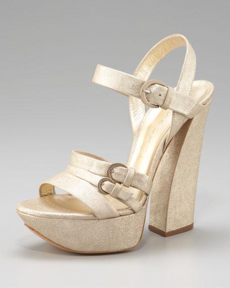 Chunky-Heel Platform Sandal