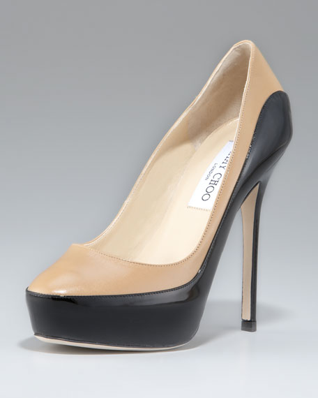 Sepia Two-Tone Platform Pump