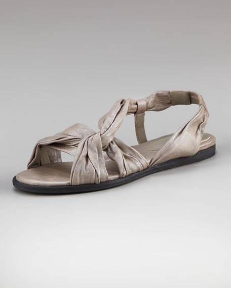Twisted Flat Sandal