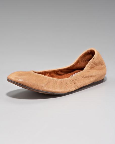 Goatskin Ballerina Flat