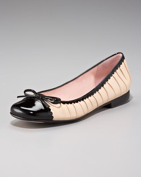 Ruched Ballerina Flat