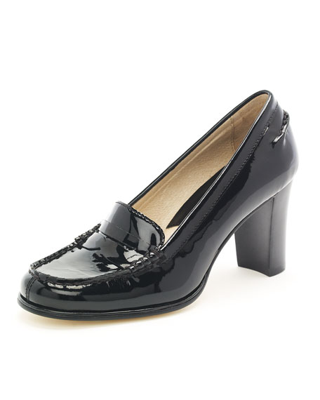 Bayville Patent Loafer Pump, Black