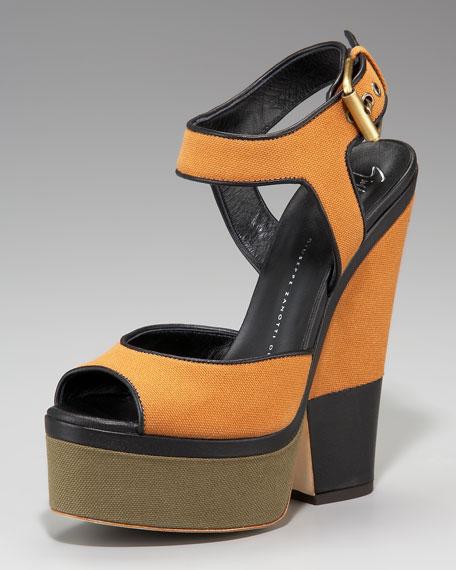 Giuseppe Zanotti Colorblock Canvas Sandal