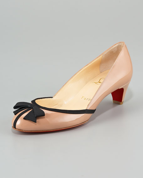 Petite Nodo Kitten-Heel Red Sole Pump