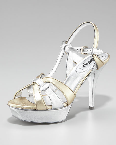 Tribute Two-Tone Metallic Sandal