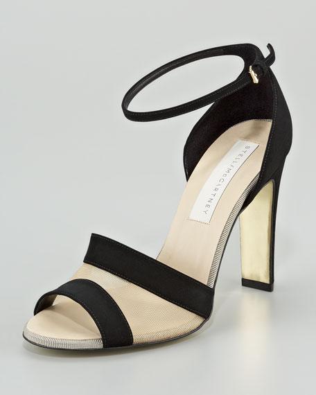 Ankle-Wrap Mesh Sandal