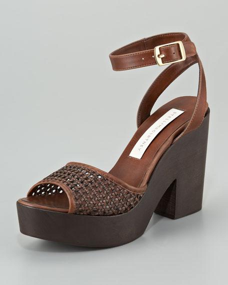 Chunky-Heel Ankle-Wrap Sandal