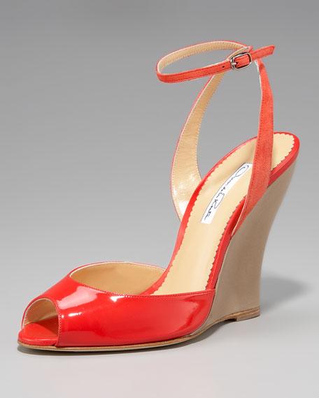 Patent Wedge Sandal