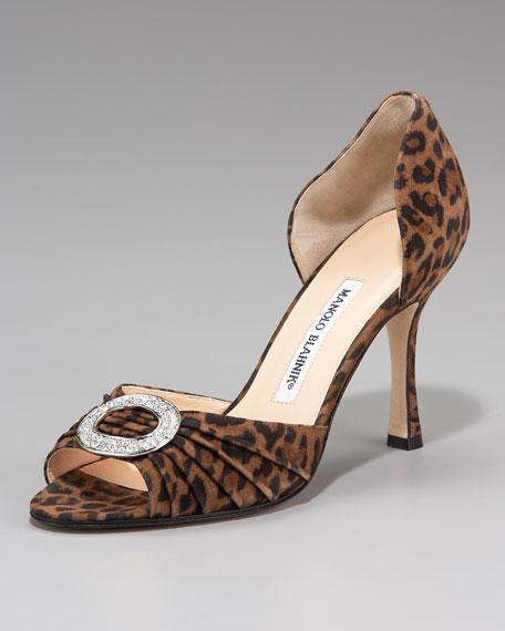 Sedaraby Leopard-Print Suede d'Orsay