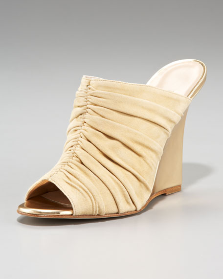 Gerina Ruched Wedge Slide