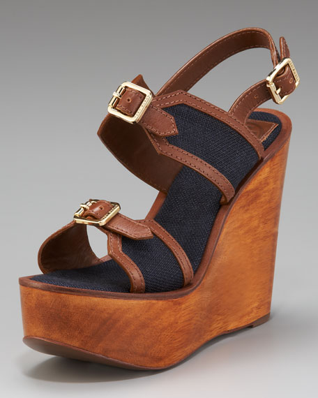 Florian Buckled Wedge Sandal