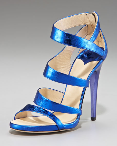 Gretchen Crushed Metallic Sandal
