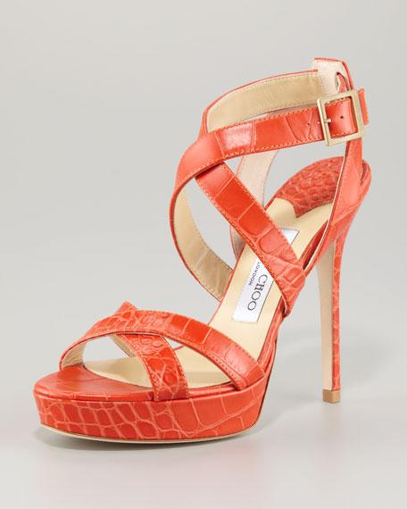 Vamp Crisscross Patent Sandal
