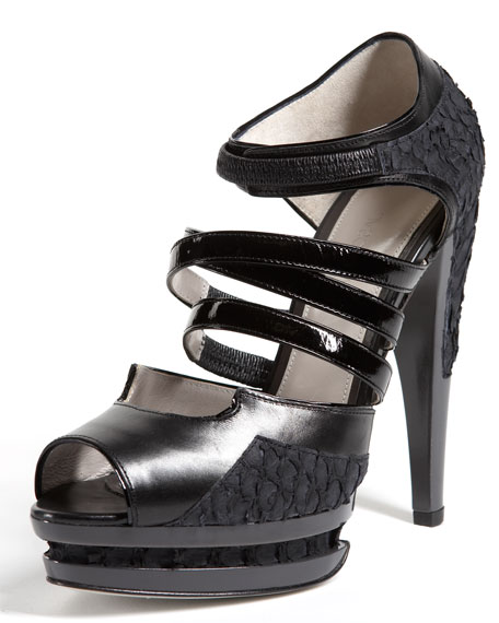 Simone Strappy Platform Sandal, Black