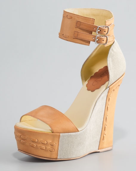Canvas Wedge Sandal