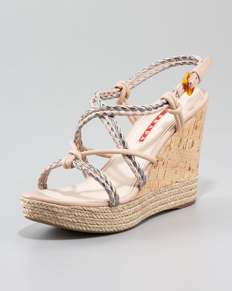 Braided Rope Wedge Sandal