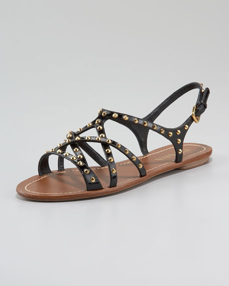 Studded Crisscross Strappy Sandal
