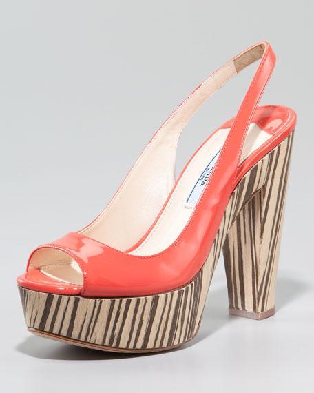 Slingback Veneer Platform Sandal